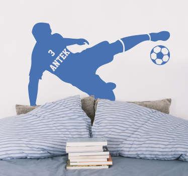 Naklejka na ścianę sport Piłkarz z imieniem