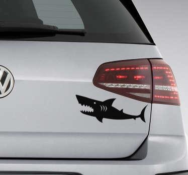 Muurstickers dieren boze haai