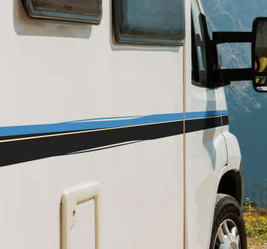 Sidebands campingvogn linje klistremerke