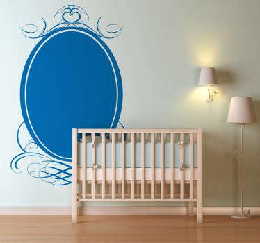 Deze muursticker met een klassieke frame is een leuke decoratie voor uw woning. Verkrijgbaar in verschillende kleuren en maten. Snelle klantenservice.