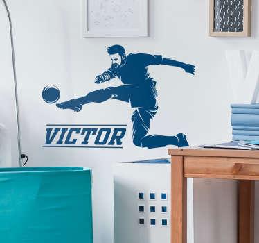 Sticker Sport Joueur de foot personnalisé