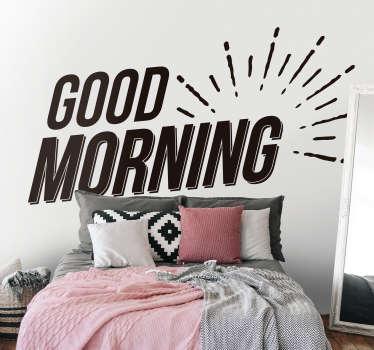 Sticker Maison Good Morning