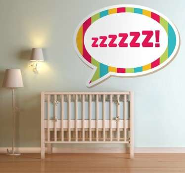 Customisable sticker of a comic speech bubble for the little ones at home. Perfect decal to personalise your child's room.