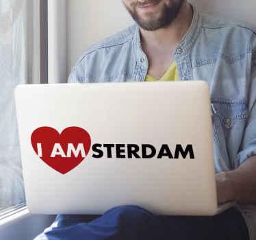 Muurstickers tekst I am Amsterdam