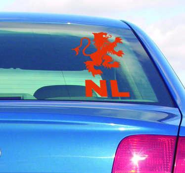 Auto stickers Nederlandse leeuw