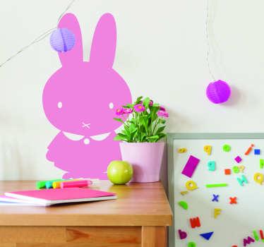Naklejka z rysunkiem Elegancki królik