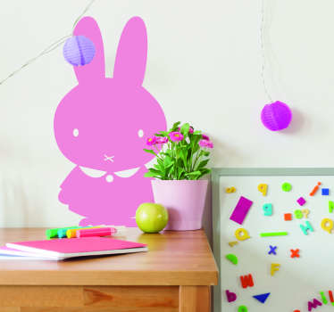 Sevimli tavşan hayvan duvar sticker babyroom