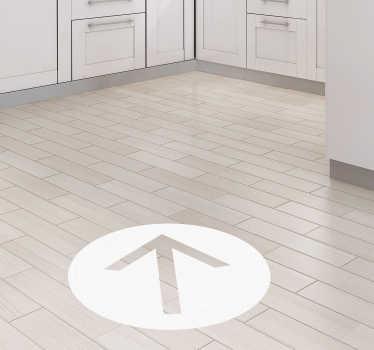 Pilpunkt vinyl skylt golvsticker