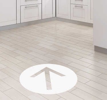 Pil punkt vinyl tegn gulvstikker