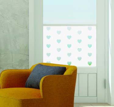 透明的心设计窗口贴纸