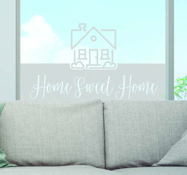 Window sticker home sweet home, a nice design for the house. Transparent window stickers and vinyl window stickers. Enjoy cozy window house stickers!