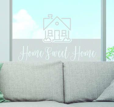 Hjem søde hjem vindue klistermærke