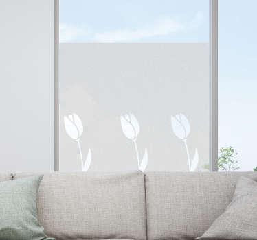 Muurstickers bloemen raamfolie tulpen