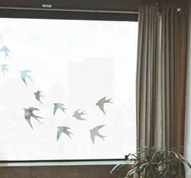 Läpinäkyvä lintuikkunan tarran ikkuna