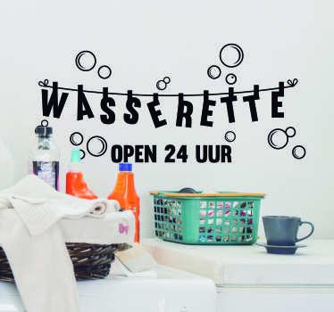 Bedrijfsstickers Wasserette waskamer