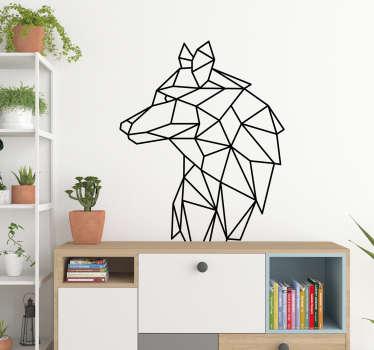 Geometric Wolf animal wall sticker