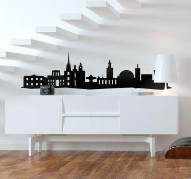 Skyline silhuett stockholm skyline silhuett