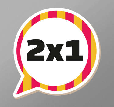 Colourful Customisable Speech Bubble Decal