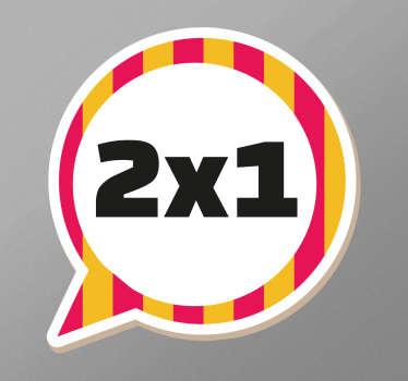 Sticker negozi per bambini sconto 2x1
