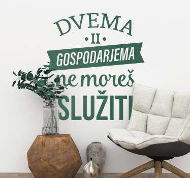Slovenija besedilo nalepka dnevna soba zid dekor