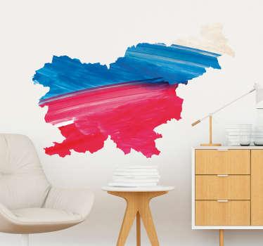 Slovenija akvarel karta dnevna soba stena dekor