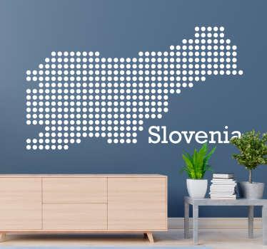 Silhouette map slovenia zemljevid sveta stenska nalepka