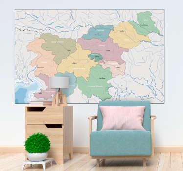 Map slovenija zidna nalepka