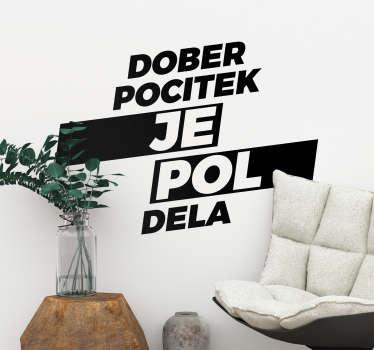 Slovenija teskt nalepka dnevna soba zid dekor