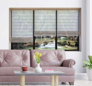 Decorative visual effect landscape sticker for living room. Easy to apply and available in different sizes. Self adhesive and durable.