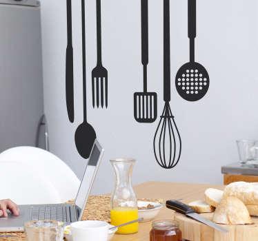 Matlagning verktyg kantine klistermärke