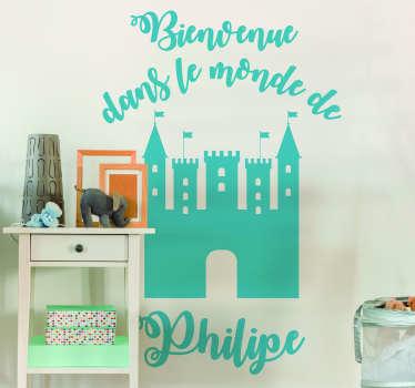 Sticker Chambre Enfant Bienvenue dans le monde de