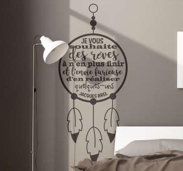 Sticker Mural Citation Jacques Brel