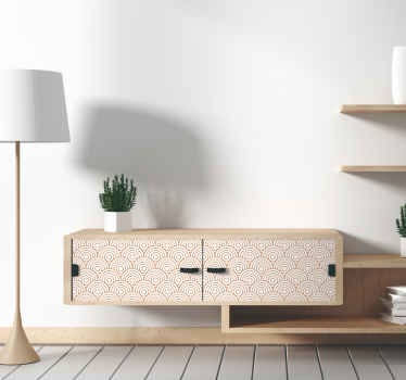 Decorate the furniture in the home in our original vinyl furniture decal made of Scandinavian motif  design. Easy to apply.