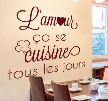 Sticker Maison L'amour ça se cuisine