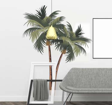 Vinilo pared dibujo palmeras