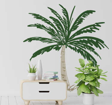 An original green palm tree wall art sticker to decorate any space in the home. Easy to apply and self adhesive. Highly durable.