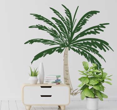 Naklejka z rysunkiem Ilustracja palmy