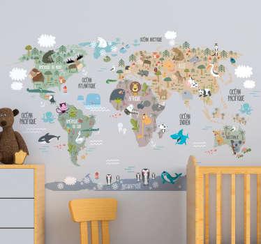 Stickers Monde Animaux du Monde
