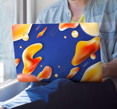 抽象熔岩设计抽象笔记本电脑贴纸