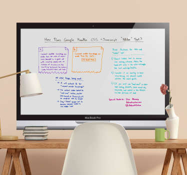 Nice wall stickers of whiteboards and chalk boards stickers. Interesting whiteboard wall sticker for living rooms. White board sticker in all sizes!