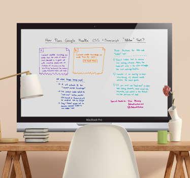 Whiteboard sticker computer design