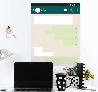 Whiteboard whatsapp hjemmemur klistermærke