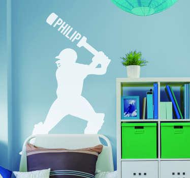 Cricket Batsman Home Wall Sticker
