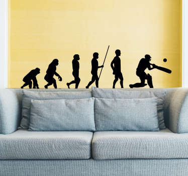 Pay tribute to the amazing sport of cricket with this superb sports sticker, depicting the evolution of a batsman! Sign up for 10% off.
