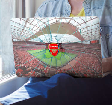 Add an Arsenal sticker to your laptop with this fantastic computer sticker, depicting the Emirates Stadium! Personalised stickers.