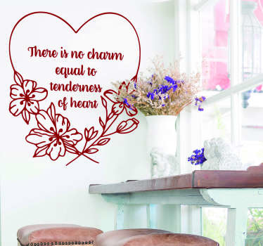 There really is no charm equal to tenderness of heart, so why not portray that with this superb literature wall sticker! Choose your size.