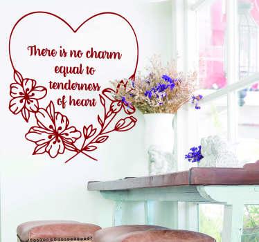 Jane Austen Heart Living Room Wall Decor