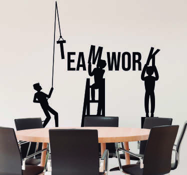 Teamwork Wall Art Sticker