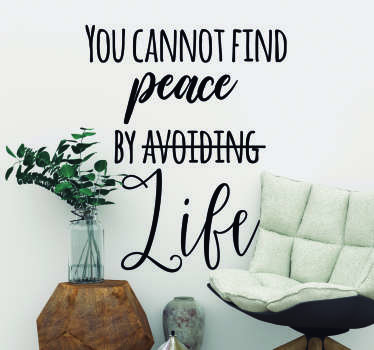 Virginia Woolf Peace Living Room Wall Decor