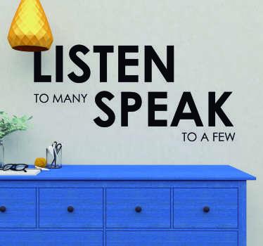William Shakespeare Listen Quote Sticker